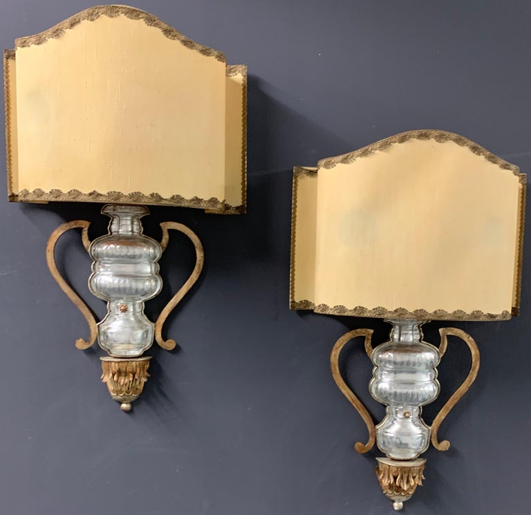 Very Rare and Impressive Pair of Wall Scones by Maison Baguès For Sale 6