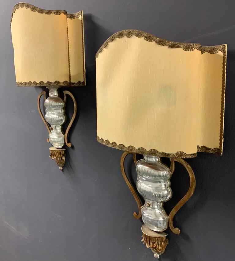 Very Rare and Impressive Pair of Wall Scones by Maison Baguès For Sale 9
