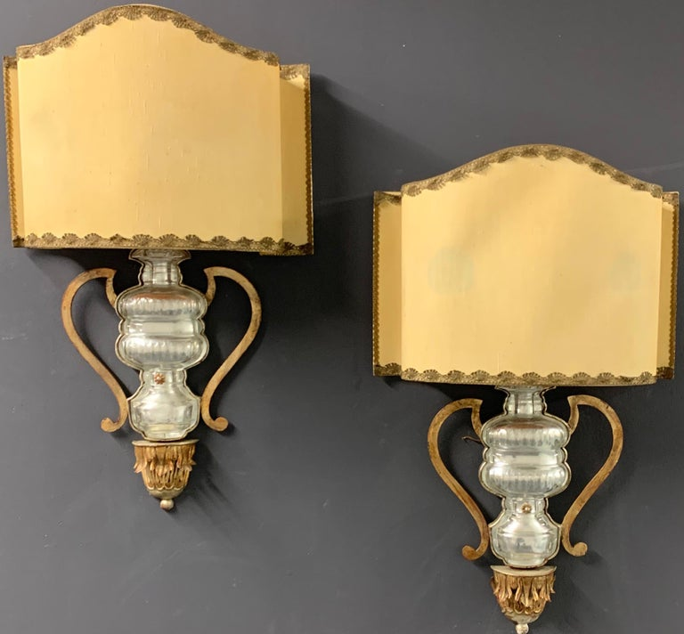 Very Rare and Impressive Pair of Wall Scones by Maison Baguès For Sale 2