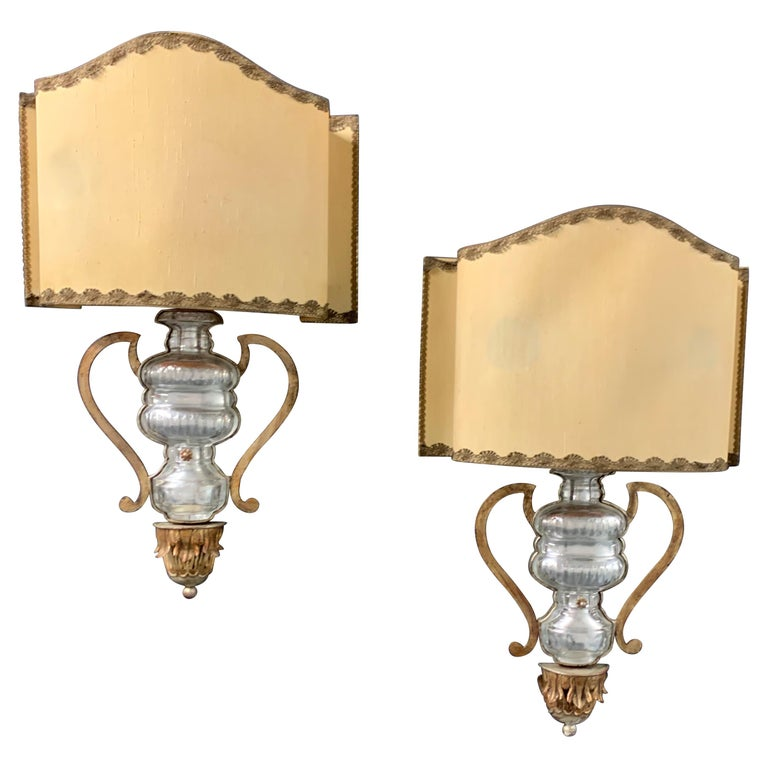 Very Rare and Impressive Pair of Wall Scones by Maison Baguès For Sale