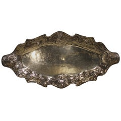 Very Rare and Unusual Gorham Martele Large Fish Tray