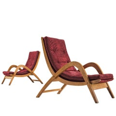 Very Rare and Very Large Lounge Chairs by Neil Morris for H. Morris, Scotland