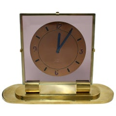 Very Rare Angelus Art Deco 8 Day Clock With Strike