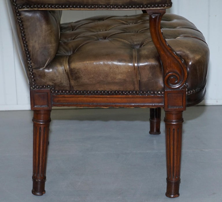 Tremendous Very Rare Antique Georgian Chesterifled Gainsborough Carver Office Desk Armchair Machost Co Dining Chair Design Ideas Machostcouk