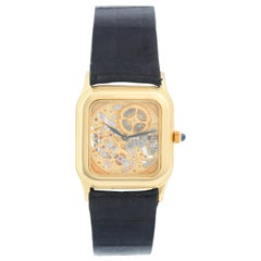 Very Rare Audemars Piguet 18 Karat Yellow Gold Openworked Watch Ref 4386