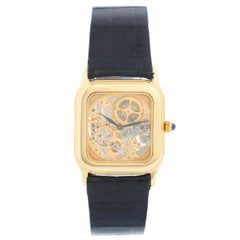 Very Rare Audemars Piguet 18 Karat Yellow Gold Openworked Watch Ref 4386