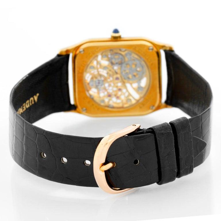 Very Rare Audemars Piguet 18 Karat Yellow Gold Openworked Watch Ref 4386 In Excellent Condition For Sale In Dallas, TX