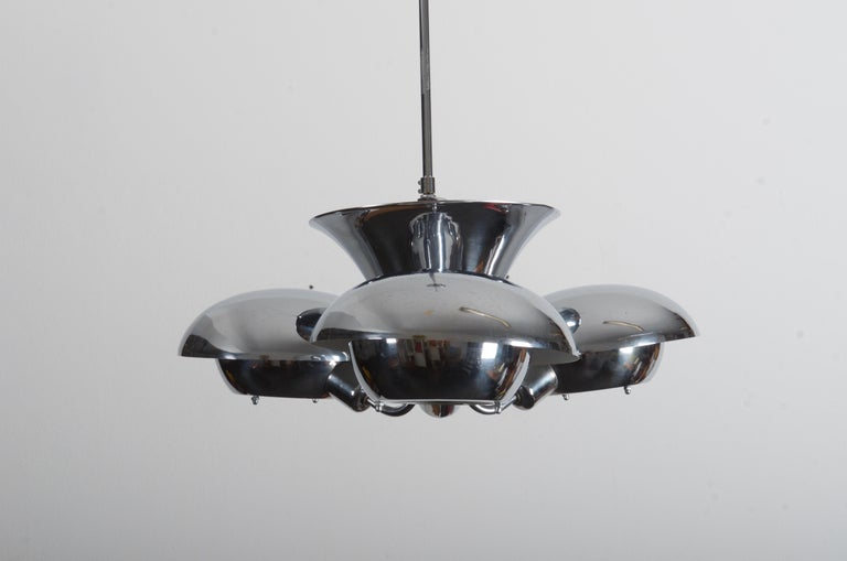Mid-20th Century Very Rare Bauhaus Chandelier by Franta Anýž For Sale