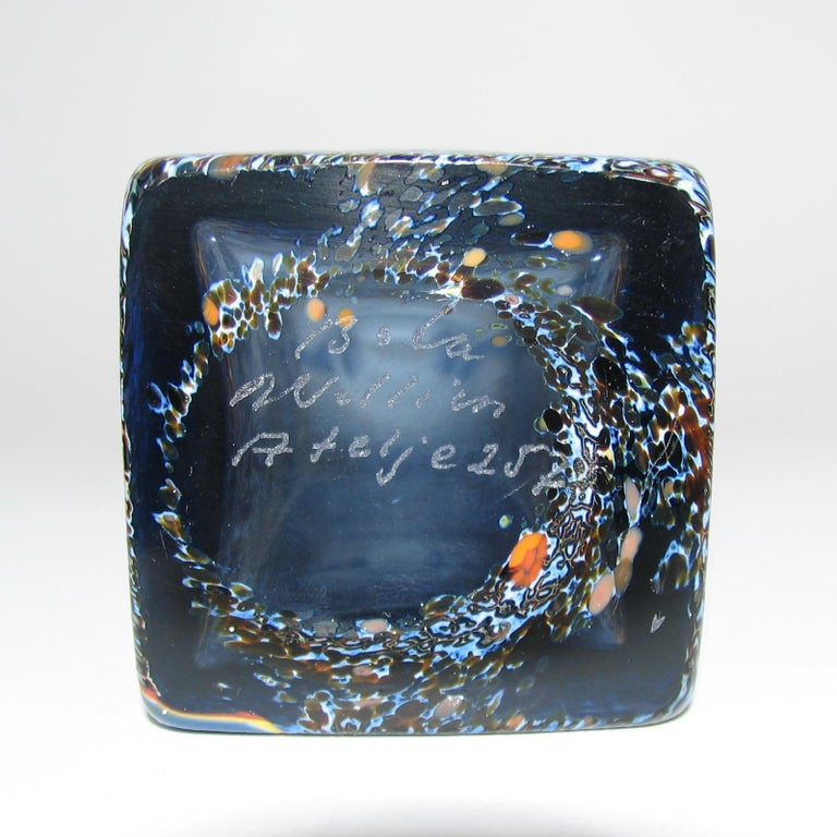 Very Rare Bertil Vallien Atelje Glass Vase, Sweden, 1970s For Sale 1