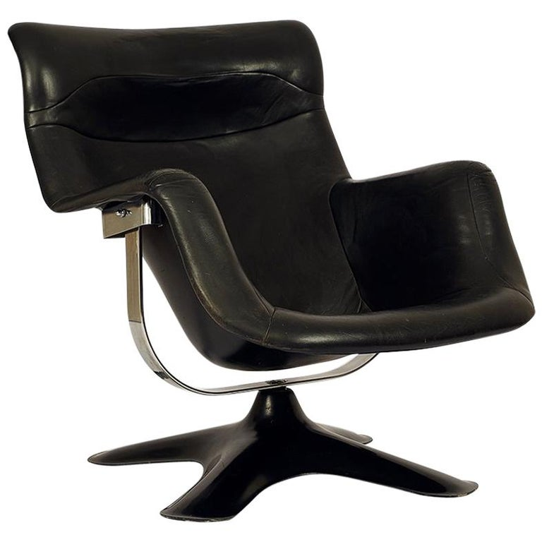 very rare black midcentury karuselli chair by yrj kukkapuro for haimi 1960s for sale at 1stdibs. Black Bedroom Furniture Sets. Home Design Ideas