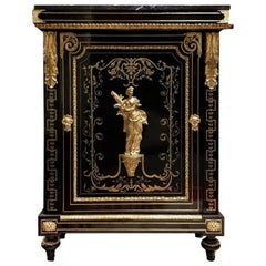 Very Rare Boulle Cabinet Signed  Befort Jeune, Napoleon III France 1851