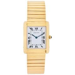 Very Rare Cartier Tank Paris 18 Karat Yellow Gold Watch
