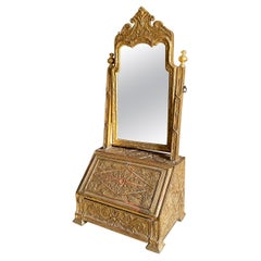 Very Rare Carved Gilt Gesso Dressing Mirror, circa 1710-1720