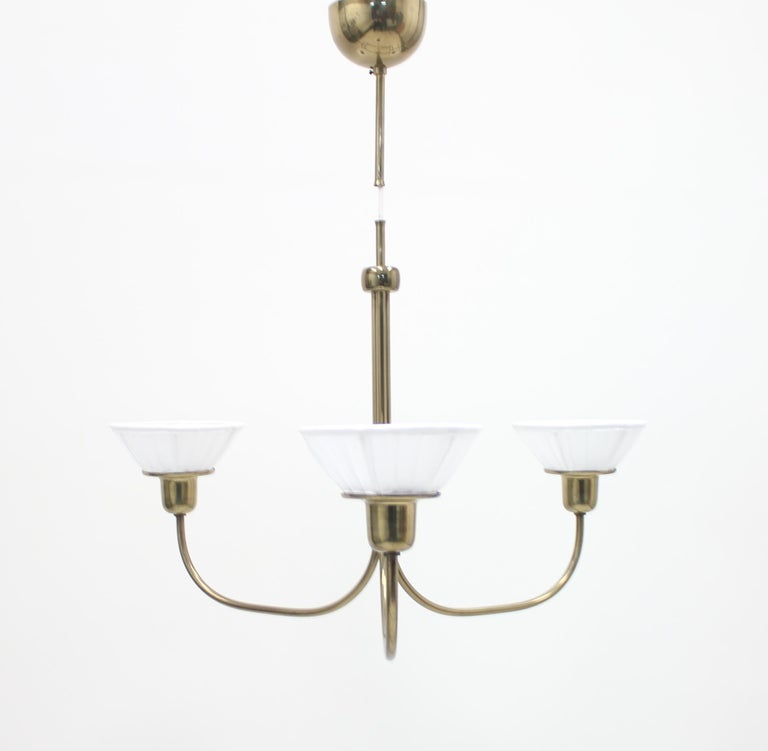 Brass Very Rare Ceiling Light, Model 2558 by Josef Frank for Svenskt Tenn, circa 1954 For Sale