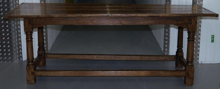 Very Rare Charles I 1630 Oak Refectory Dining Hall Table, Plaish Hall Shropshire For Sale 8