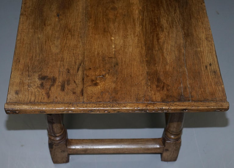 Very Rare Charles I 1630 Oak Refectory Dining Hall Table, Plaish Hall Shropshire For Sale 11
