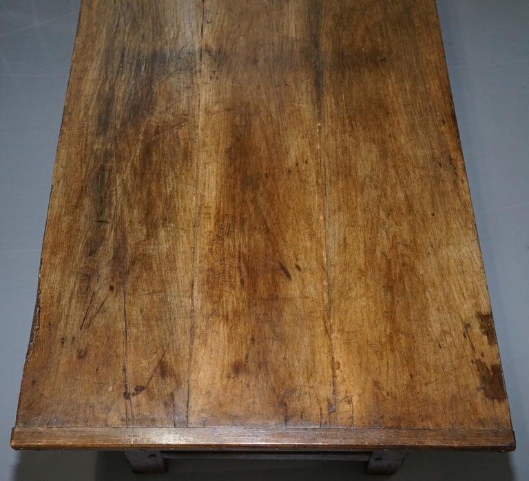 English Very Rare Charles I 1630 Oak Refectory Dining Hall Table, Plaish Hall Shropshire For Sale