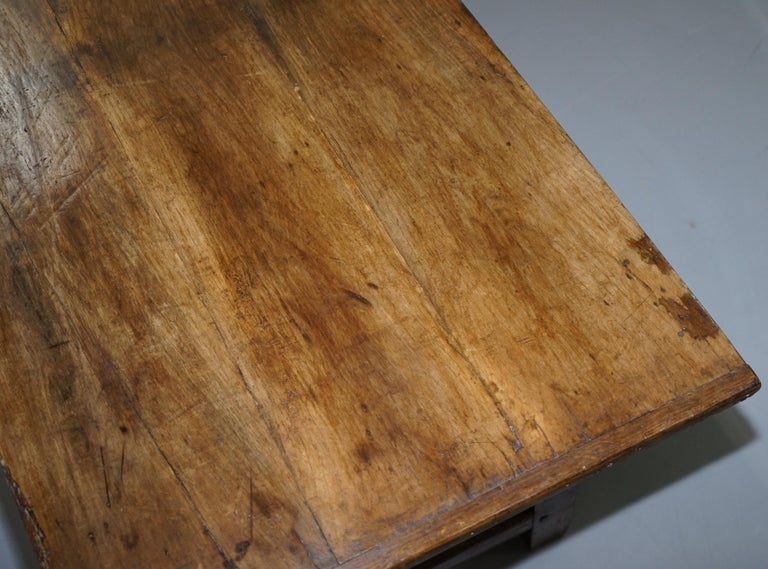 Hand-Crafted Very Rare Charles I 1630 Oak Refectory Dining Hall Table, Plaish Hall Shropshire For Sale