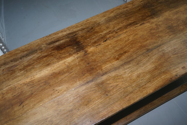 Mid-17th Century Very Rare Charles I 1630 Oak Refectory Dining Hall Table, Plaish Hall Shropshire For Sale