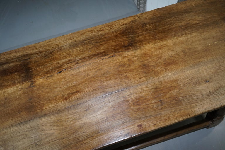 Very Rare Charles I 1630 Oak Refectory Dining Hall Table, Plaish Hall Shropshire For Sale 1