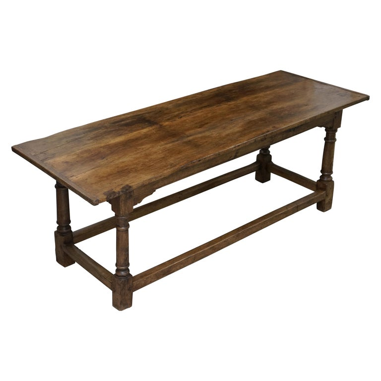 Very Rare Charles I 1630 Oak Refectory Dining Hall Table, Plaish Hall Shropshire For Sale