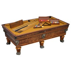 Very Rare Charles X circa 1800 Marquetry Inlaid POOL Snooker Billiards Table