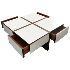Very Rare Coffee Table by Bernard Vuarnesson for Belato, Italy, 1970s
