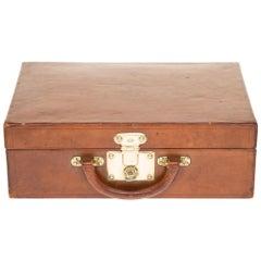 VERY RARE/COLLECTIBLE/ Louis Vuitton Suitcase-Vanity in brown calf
