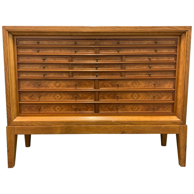 Very Rare Custom Made Collectors Cabinet For Sale