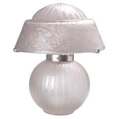 Very Rare Daum Nancy Art Deco Table Lamp