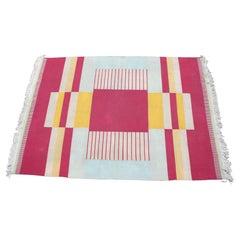 Very Rare Geometric Original Carpet Designed by Antonin Kybal, 1940s