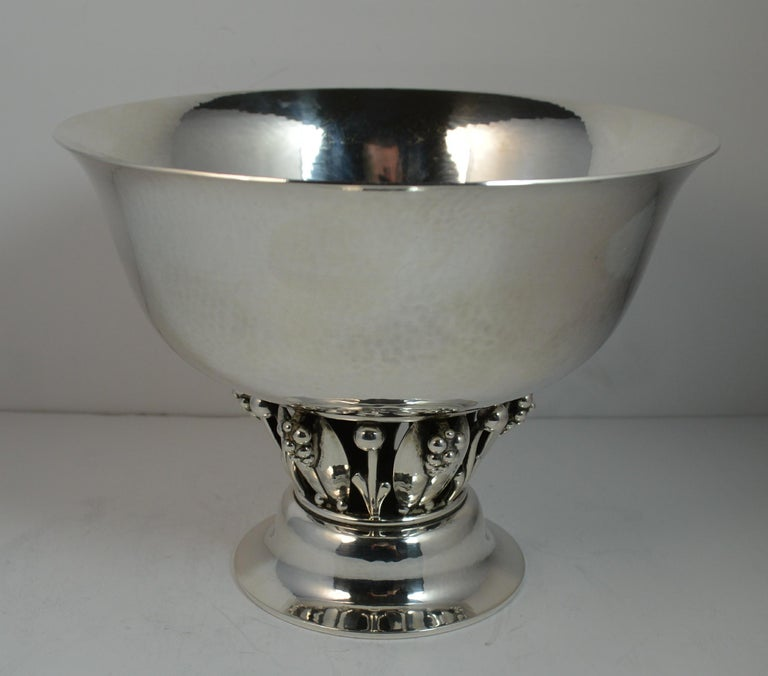 Very Rare Georg Jensen 197B Sterling Silver Bowl Dish For Sale 1
