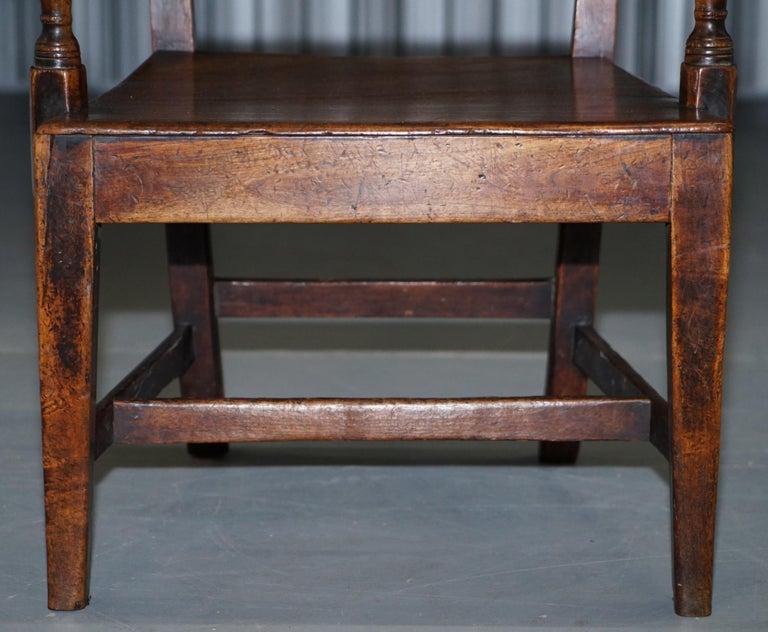 Very Rare George II circa 1760 Primitive Carver Armchair Original Period Repairs For Sale 4