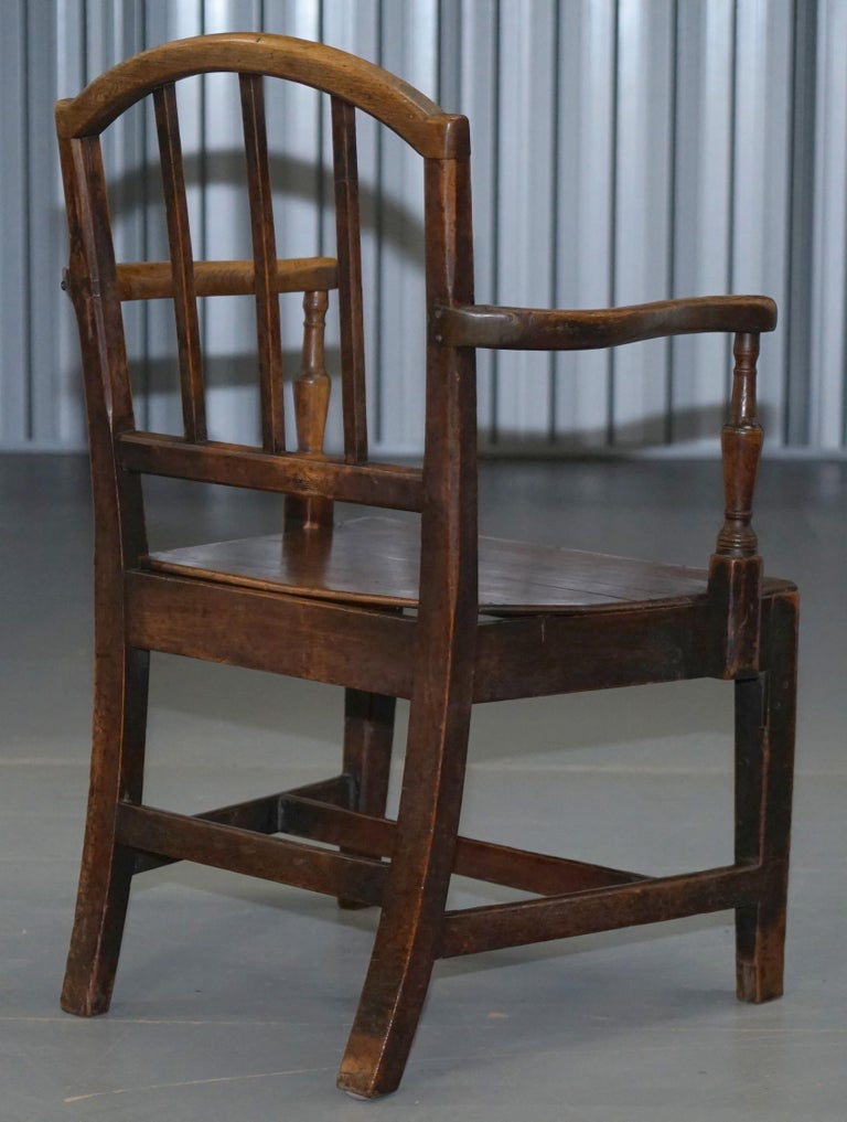 Very Rare George II circa 1760 Primitive Carver Armchair Original Period Repairs For Sale 8