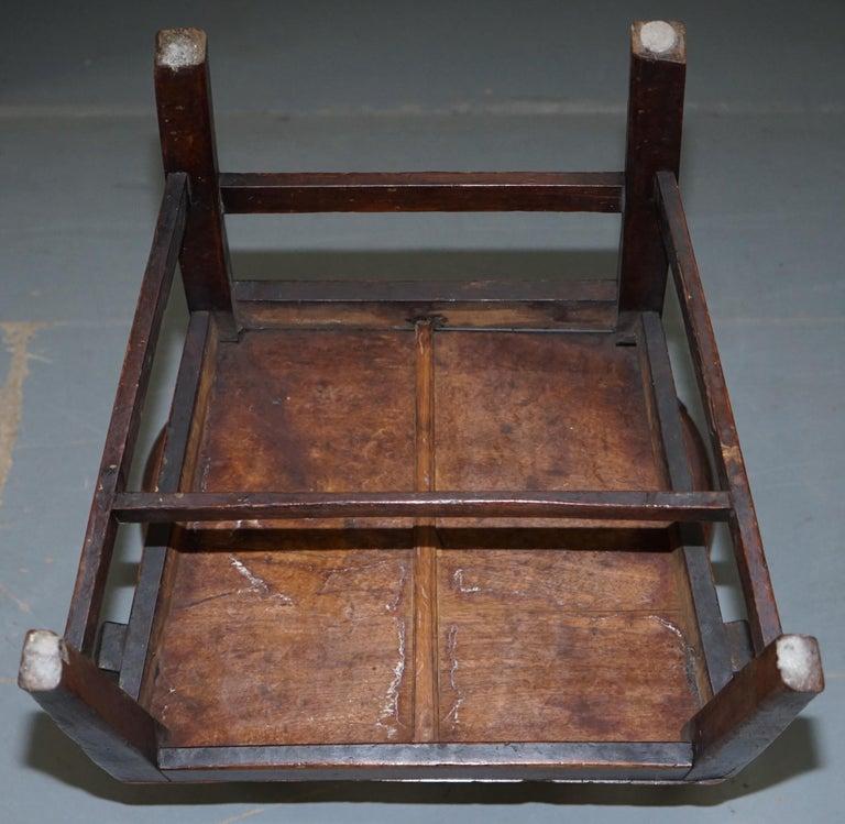 Very Rare George II circa 1760 Primitive Carver Armchair Original Period Repairs For Sale 12