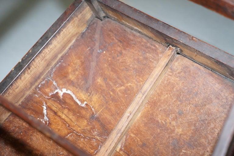 Very Rare George II circa 1760 Primitive Carver Armchair Original Period Repairs For Sale 13