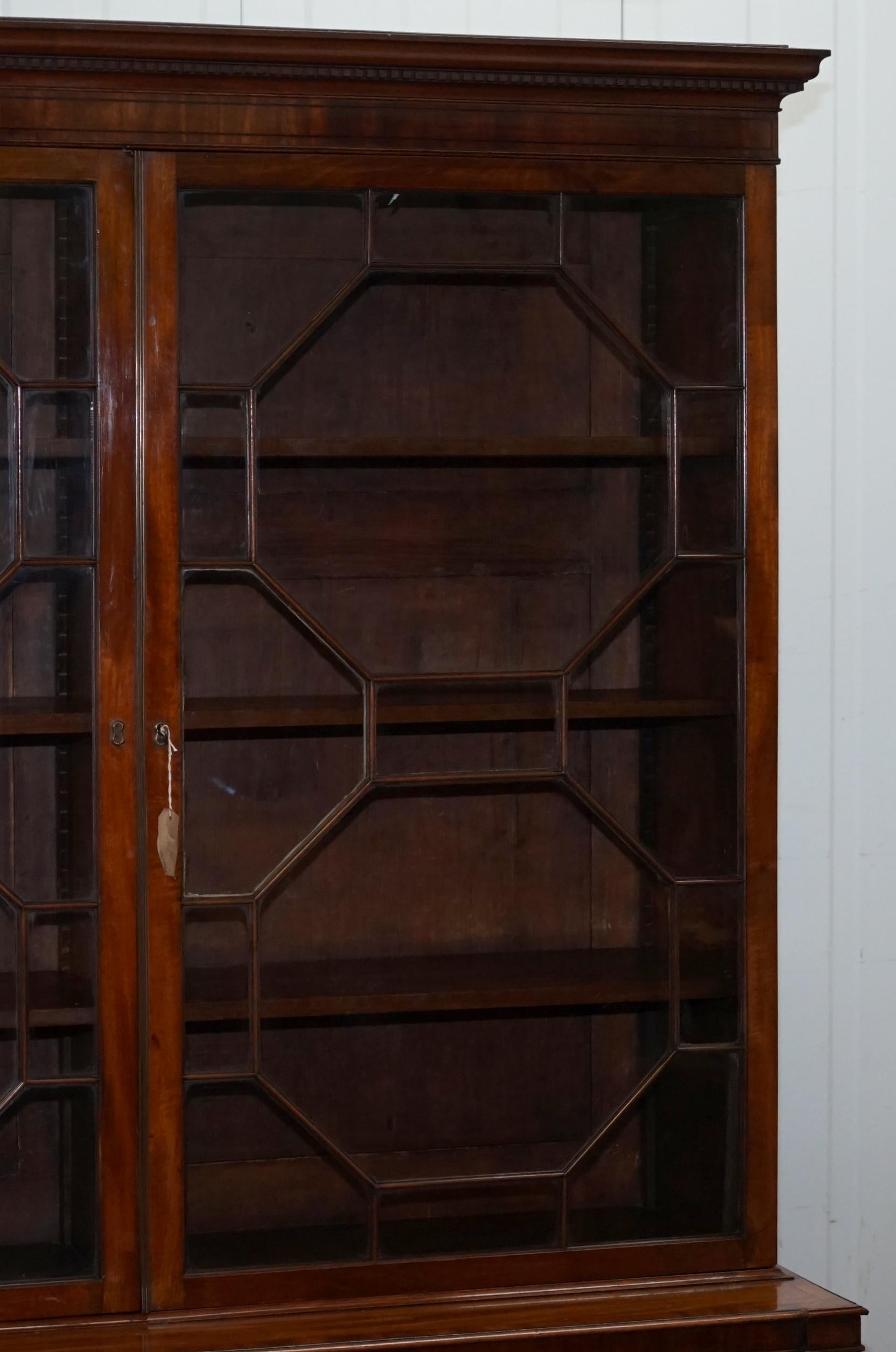 Very Rare Gillows Astral Glazed Mahogany Bookcase Cabinet Original Paper Labels For At 1stdibs