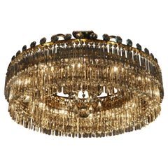 Very Rare Glass Chandelier Oswaldt Haerdtl for Lobmeyr, Vienna, circa 1960s