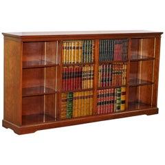 Very Rare Harrods London Kennedy Mahogany Sideboard TV Media Cabinet Faux Books