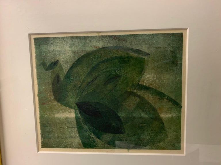 Very Rare Harry Bertoia Monoprint on Rice Paper For Sale 4