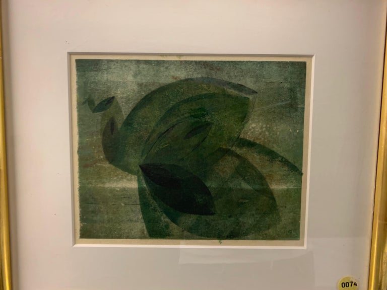 Very Rare Harry Bertoia Monoprint on Rice Paper For Sale 5