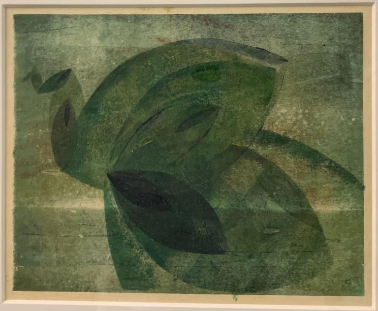 Very Rare Harry Bertoia Monoprint on Rice Paper For Sale 1