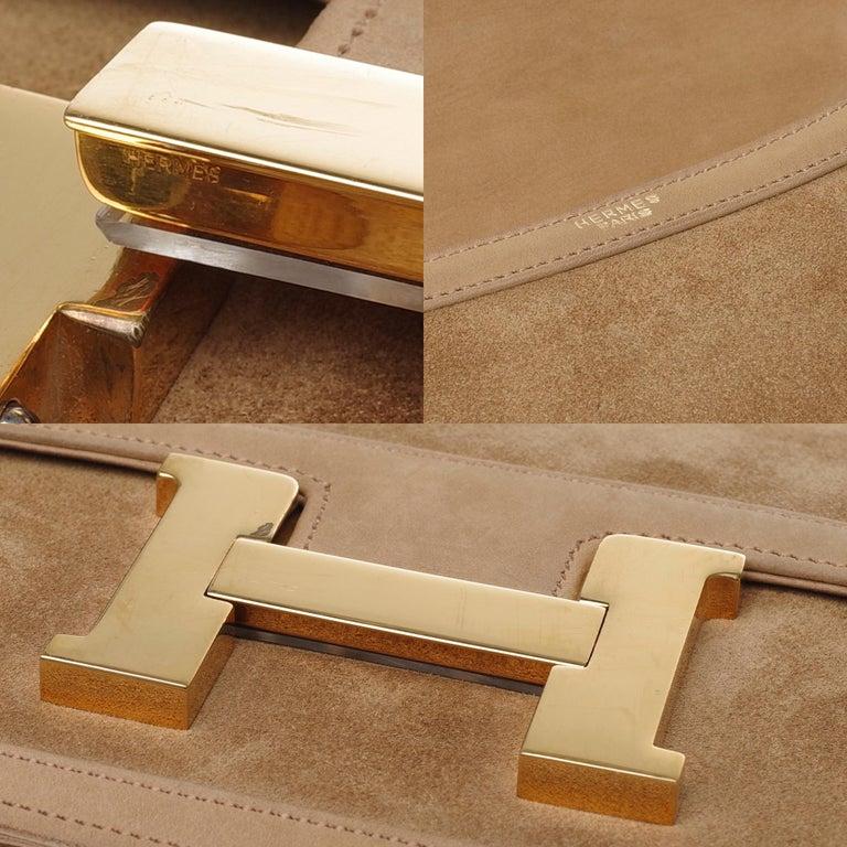 VERY RARE Hermes Constance  DOBLIS shoulder bag in sand color & Gold hardware! For Sale 1