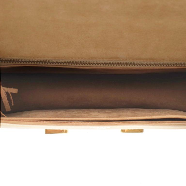 VERY RARE Hermes Constance  DOBLIS shoulder bag in sand color & Gold hardware! For Sale 3