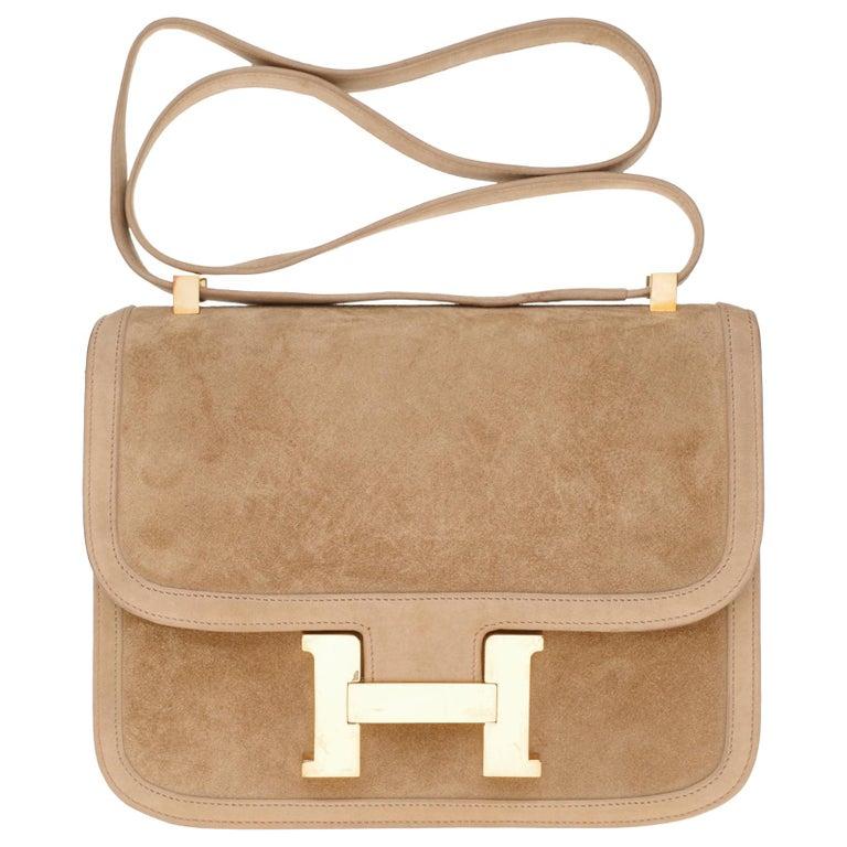 VERY RARE Hermes Constance  DOBLIS shoulder bag in sand color & Gold hardware! For Sale