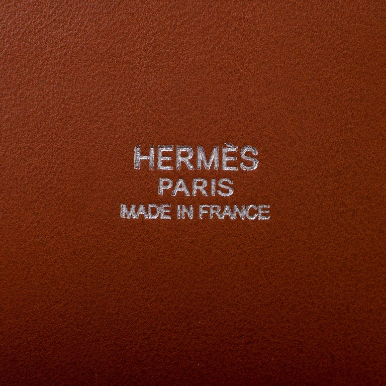 Very Rare Hermes 'Mini Bolide' 25 - Miel Ostrich Leather with Ruthenium Hardware For Sale 1