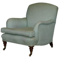 Very Rare Howard & Son's Fully Stamped Bridgewater Armchair Original Castors