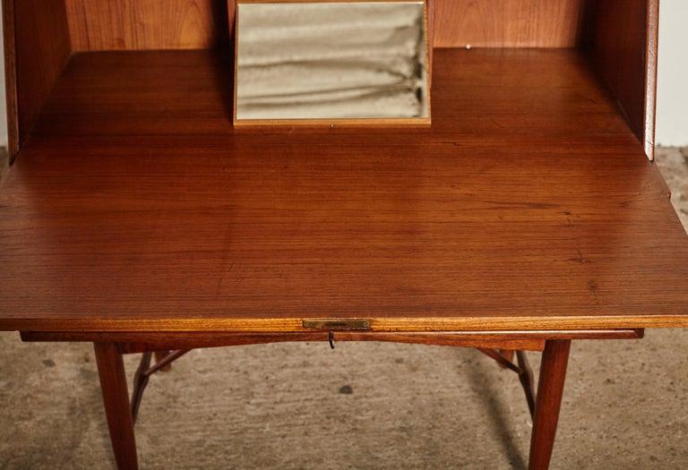 Very Rare Ib Kofod Larsen Secretary Desk / Bureau, PA Pedersen, 1954, Denmark For Sale 3