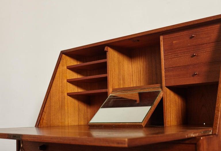Very Rare Ib Kofod Larsen Secretary Desk / Bureau, PA Pedersen, 1954, Denmark For Sale 4