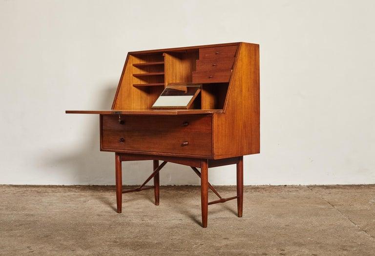 Very Rare Ib Kofod Larsen Secretary Desk / Bureau, PA Pedersen, 1954, Denmark For Sale 5